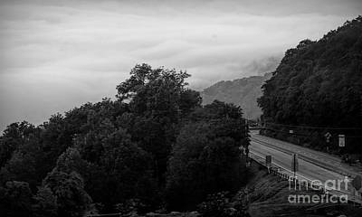 Photograph - Pennsylvania Road Travel Landscape Bw by Chuck Kuhn