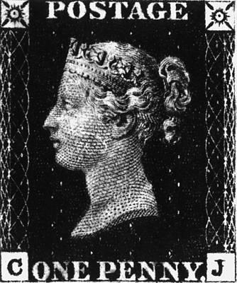 Penny Black Art Print by Hulton Archive