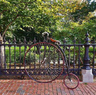 Photograph - Penny Farthing And A Squirrel by Rob Hans