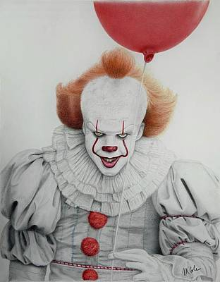 Drawing - Pennywise the Dancing Clown by Vanessa Cole