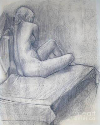 Drawing - Pensive Nude by Susan Lafleur