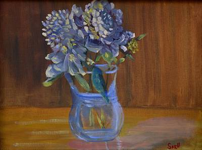 Painting - Peonies by Roger Snell