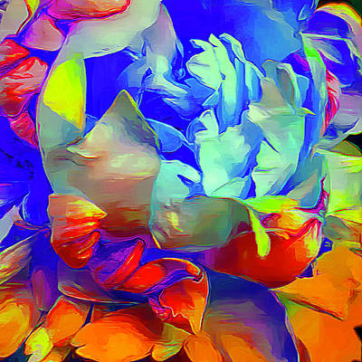 Color Digital Art - Peony Pop by Cindy Greenstein