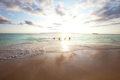 Photograph - People Beach Sunset by M Swiet Productions