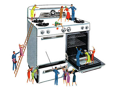 People Digital Art - People Climbing Giant Oven by Graphicaartis