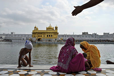 Indian Culture Photograph - People In Front Of The Golden Temple by Kay Maeritz / Look-foto