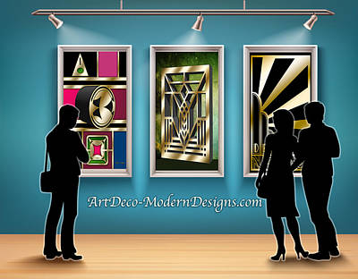 Digital Art - People In Gallery by Chuck Staley