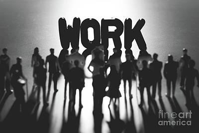 Photograph - People Standing Around Work Writing. by Michal Bednarek