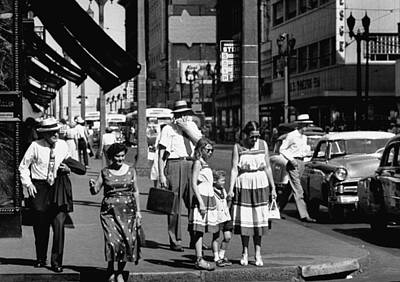 Photograph - People Walking The Streets Of St. Louis by John Dominis