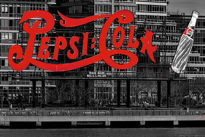 Photograph - Pepsi Cola Sign Sbw by Susan Candelario