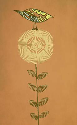 Flower Drawing - Perch by Eric Fan