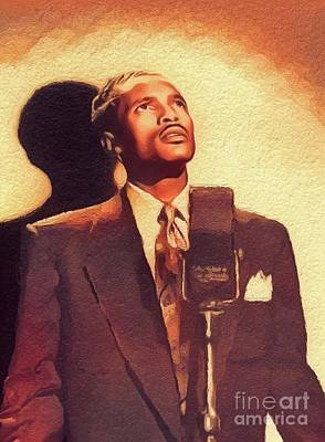 Music Paintings - Percy Mayfield, Music Legend by Esoterica Art Agency
