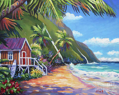 Na Pali Hawaii Painting - Perfect Day by John Clark