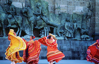 Traditional Clothing Photograph - Performers In Front Of Palacio De by Ryan Fox