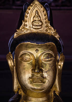 Photograph - Perfume Pagoda Golden Buddha by Dave Bowman
