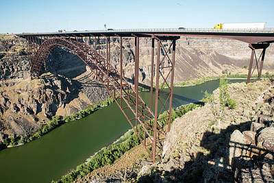 Photograph - Perrine Bridge by Tom Cochran
