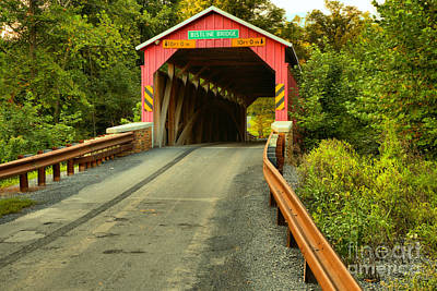 Photograph - Perry County Bistline Covered Bridge by Adam Jewell
