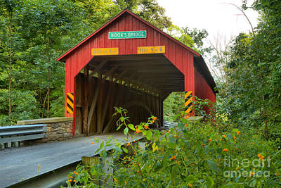 Photograph - Perry County Books Covered Bridge by Adam Jewell