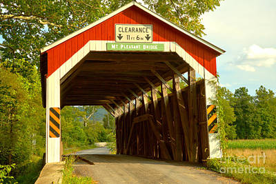 Photograph - Perry County Mt. Pleasant Covered Bridge by Adam Jewell