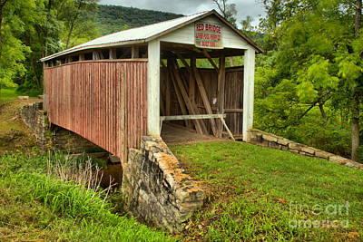 Photograph - Perry County Red Covered Bridge by Adam Jewell
