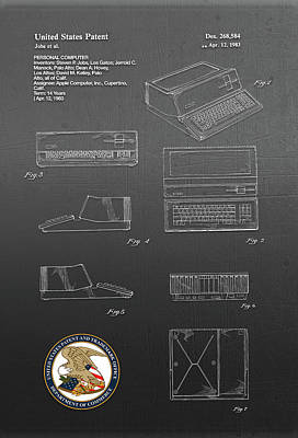 Digital Art - Personal Computer Patent Drawing by Carlos Diaz
