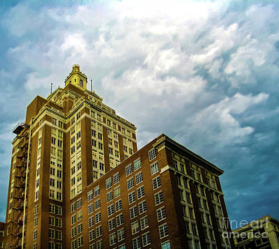 Photograph - Perspective Of Art Deco Building In Downtown Tulsa Oklahoma Usa On A Stormy Day With Dramatic Sky by Susan Vineyard