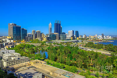 Photograph - Perth Skyline From Kings Park by Benny Marty