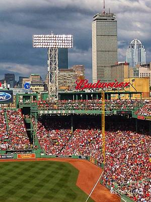 Photograph - Peskys Pole At Fenway Park by Mary Capriole