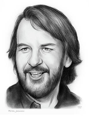 Drawing - Peter Jackson by Greg Joens
