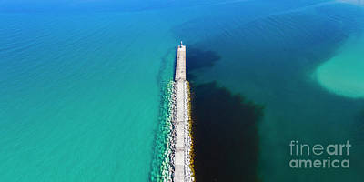 Royalty-Free and Rights-Managed Images - Petoskey Aerial Panorama by Twenty Two North Photography