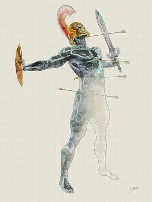 Gorgon Wall Art - Digital Art - Petrified Soldier by Joaquin Abella