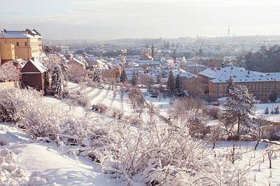 Photograph - Petrin Hill And Prague Hradchany In Winter by Jenny Rainbow