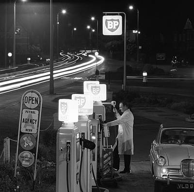 Photograph - Petrol Station by Bert Hardy Advertising Archive