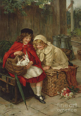 Painting - Pets by George Sheridan Knowles