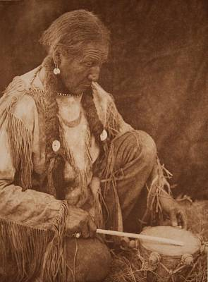Landscape Photos Chad Dutson - Peyote Drummer by Edward Sheriff Curtis by Celestial Images