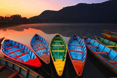 Photograph - Phewan Boats At Sunrise by Edmund Khoo Photography