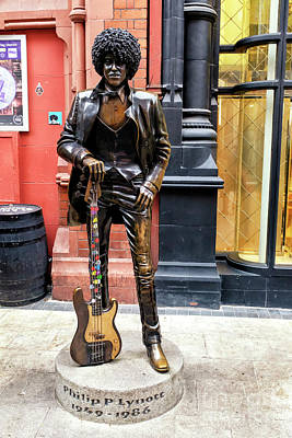 Photograph - Phil Lynott Statue Dublin by John Rizzuto