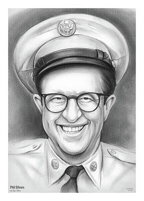 Drawings Royalty Free Images - Phil Silvers as sgt Bilko Royalty-Free Image by Greg Joens