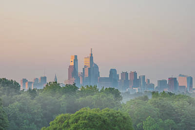 Photograph - Philadelphia Cityscape At The Golden Hour by Bill Cannon