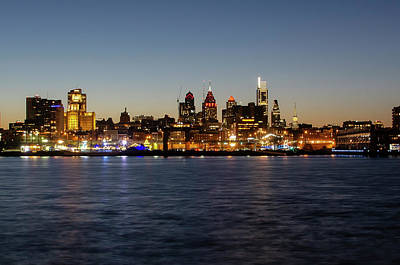 Photograph - Philadelphia - Cityscape On The Delaware 2019 by Bill Cannon