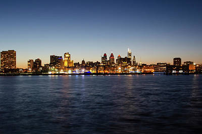 Photograph - Philadelphia - Cityscape On The Delaware by Bill Cannon