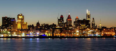 Photograph - Philadelphia - Cityscape On The Delaware Panorama 2019 by Bill Cannon