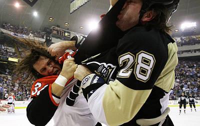 Photograph - Philadelphia Flyers V Pittsburgh by Bruce Bennett