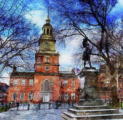 Painting - Philadelphia Independence Hall - 04 by Andrea Mazzocchetti