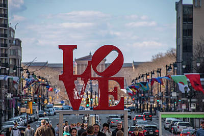 Photograph - Philadelphia - Love On The Parkway by Bill Cannon