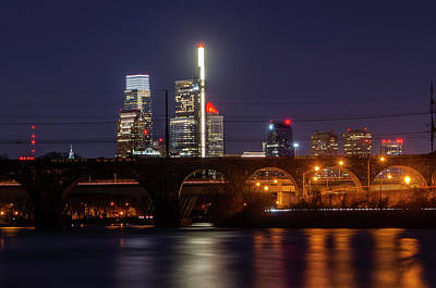 Photograph - Philadelphia Night On The Schuylkill by Bill Cannon