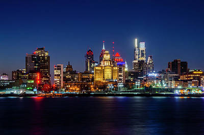 Photograph - Philadelphia Night On The Waterfront by Bill Cannon