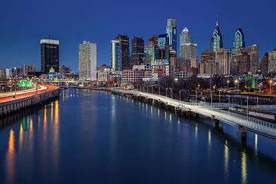 Photograph - Philadelphia Skyline At Twilight by Susan Candelario