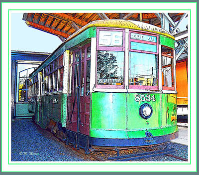 Digital Art - Philadelphia Trolley Car C1926 by A Gurmankin