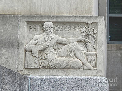 Photograph - Philosophy Plaque by Phil Perkins